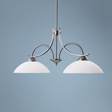 Olympia Collection Pewter 2-Light Island Chandelier