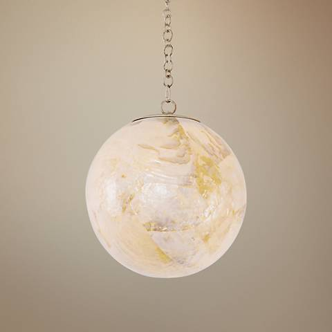 "Varaluz Big 10"" Wide Gold Dust Orb Mini Pendant"