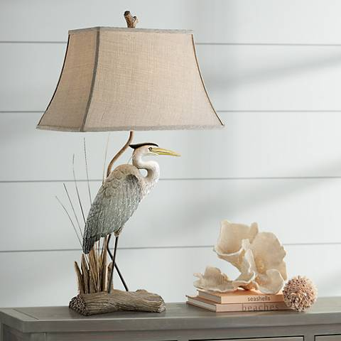 Arapuni Natural Heron Bird Table Lamp