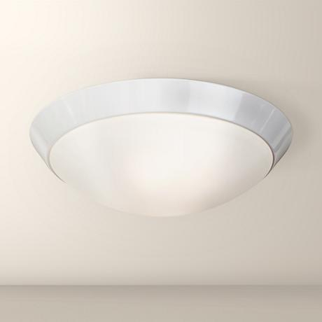 "Davis 11"" Wide White Ceiling Light Fixture"