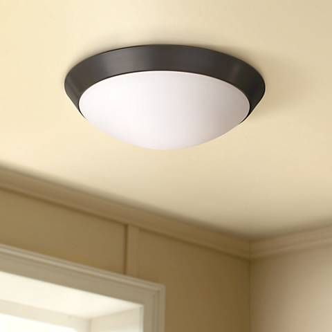 "Davis 11"" Wide Oil-Rubbed Bronze Ceiling Light Fixture"