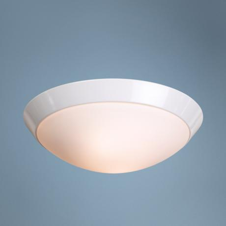 "Davis 13"" Wide White Ceiling Light Fixture"