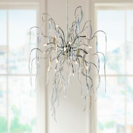 "Possini Euro Design 26"" Wide Icicle Art Chandelier"