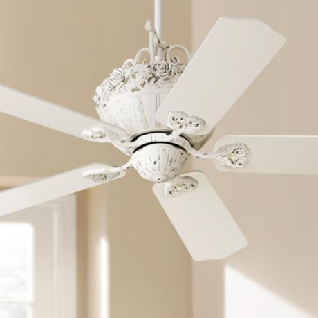 "52"" Casa Chic™ Antique White Ceiling Fan"