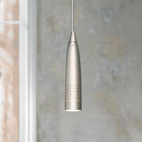 Odyssey Collection Brushed Steel Mini Pendant Chandelier