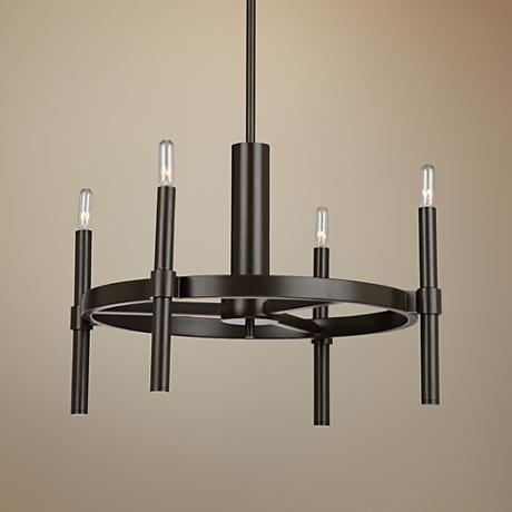 "Artcraft Encore 20""W Oil Rubbed Bronze 4-Light Chandelier"