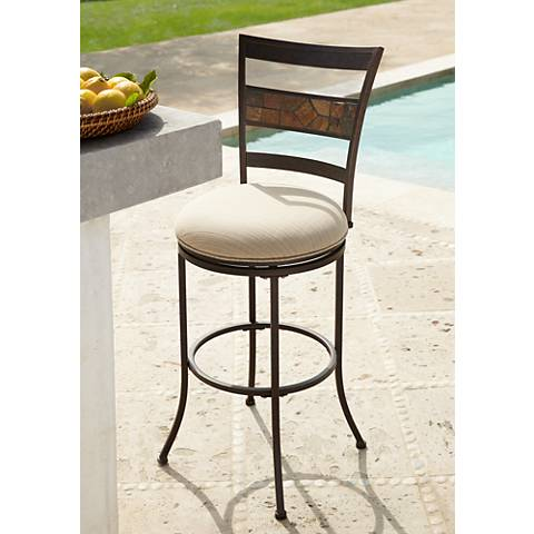"Hillsdale Sonata 30"" Outdoor-Indoor Swivel Bar Stool"