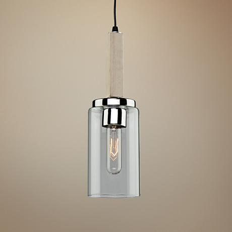 "Canyon Creek 4 1/4""W Natural Pine Wood Mini Pendant"