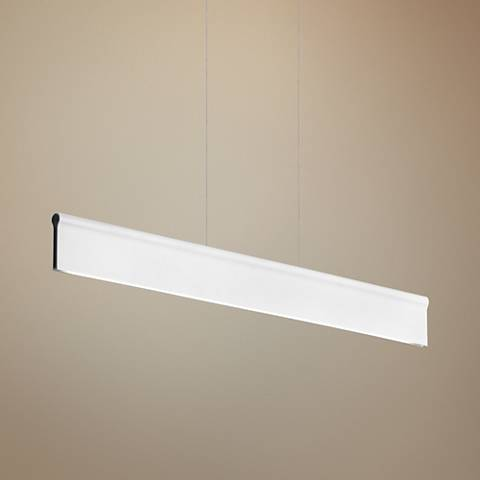 "LBL Ortex Linear 50"" Wide White LED Island Pendant"