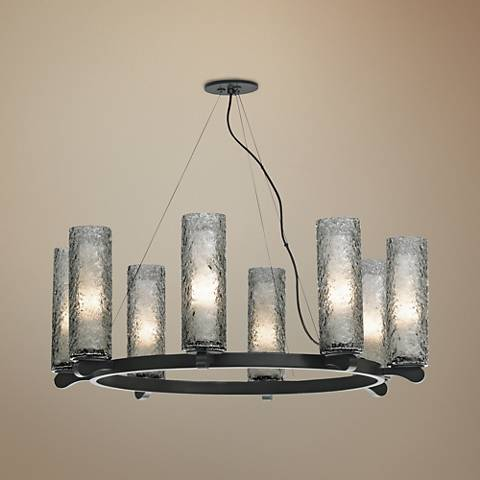 "LBL Rock Candy 31 1/2"" Wide Satin Nickel Chandelier"