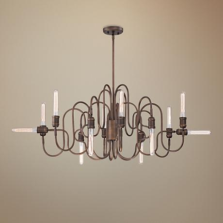 "Eurofase Briggs 48"" Wide Oil Rubbed Bronze Oval Chandelier"