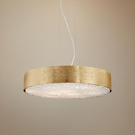 "Eurofase Cara 23 1/2"" Wide Gold 9-Light Pendant"