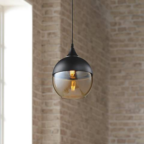 "Avenue Robertson Blvd. 8""W Black Mini Pendant"