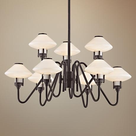 "Hudson Valley Knowles 29 3/4""Wide Old Bronze LED Chandelier"