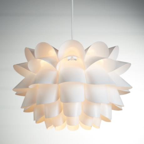 "Possini Euro White Flower 19 1/2"" Wide Pendant Chandelier"