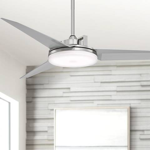 "52"" Cyber™ Brushed Steel Ceiling Fan"