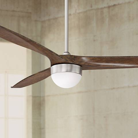 "60"" Tri-Lago Brushed Steel LED Ceiling Fan"