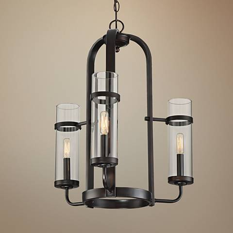 "Savoy House Tulsa 20"" Wide English Bronze 3-Light Chandelier"