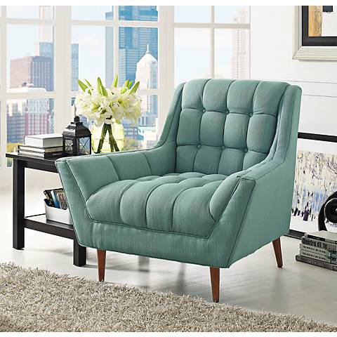 Response Laguna Fabric Tufted Armchair