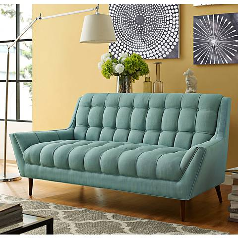 Response Laguna Fabric Tufted Loveseat