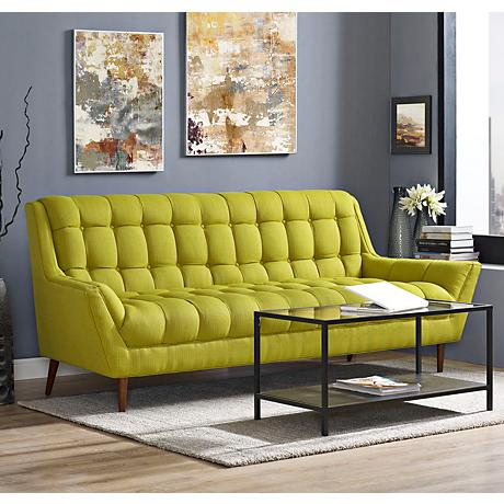 Response Wheatgrass Fabric Tufted Sofa