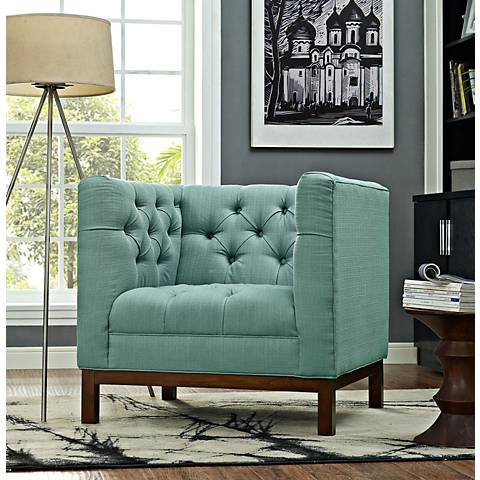 Panache Laguna Fabric Tufted Armchair
