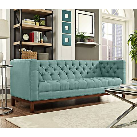 "Panache Laguna 84"" Wide Fabric Tufted Sofa"