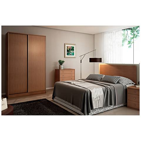 Chelsea 1.0 Maple Cream Sliding-Door Double Wardrobe Closet