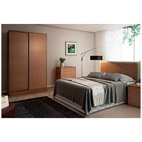 Chelsea 1.0 Maple Cream Sliding-Door He/She Wardrobe Closet