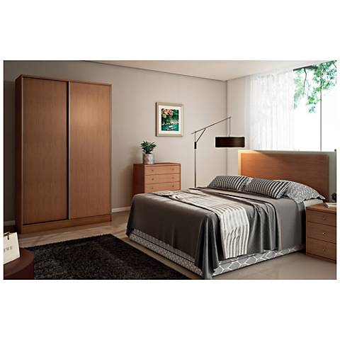 Chelsea 2.0 Maple Cream Sliding-Door Double Wardrobe Closet
