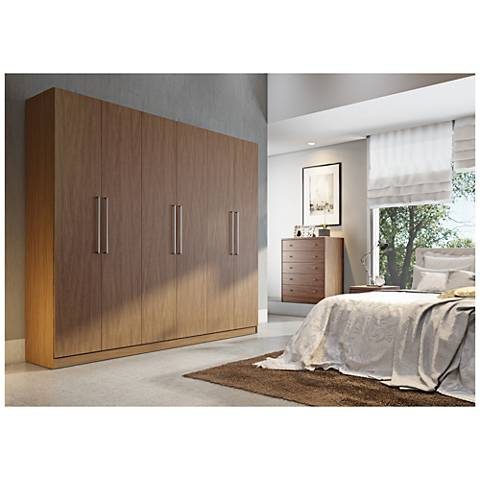 Eldridge 2.0 Maple Cream Wood Wardrobe Closet
