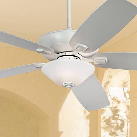 "60"" Colony Super Max Plus White Damp Ceiling Fan"
