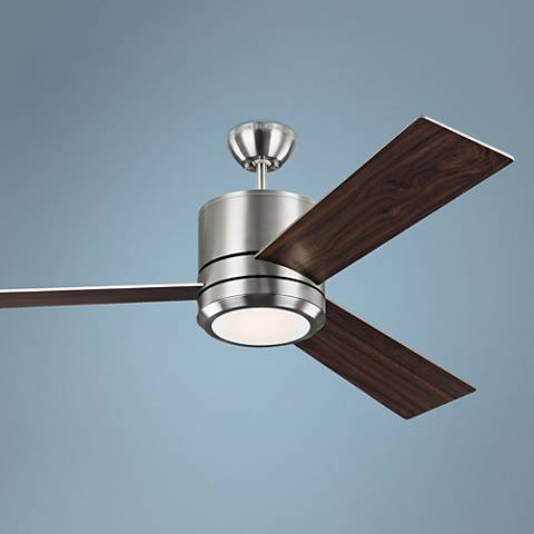 "56"" Vision Max Brushed Steel LED Damp-Rated Ceiling Fan"