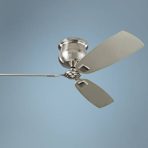 "56"" Cannondale Brushed Steel DC Hugger Ceiling Fan"
