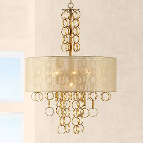 "Pence 19 3/4"" Wide 7-Light Gold Pendant Chandelier"