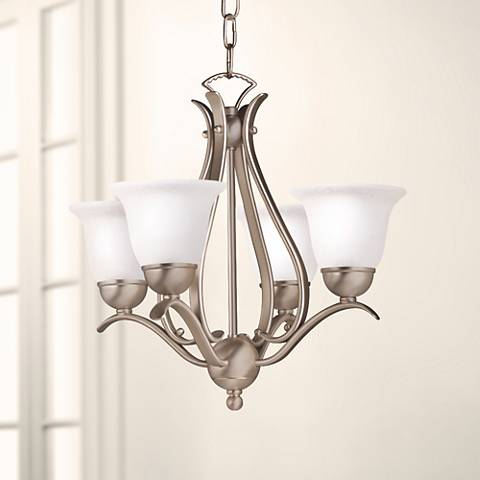 Four Light Brushed Nickel Finish Chandelier