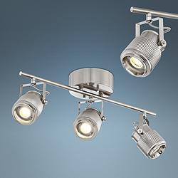 Pro Track Ripple 3-Light Satin Nickel LED Track Light
