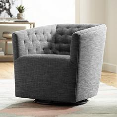 Reeves Quarry Hand-Tufted Swivel Armchair