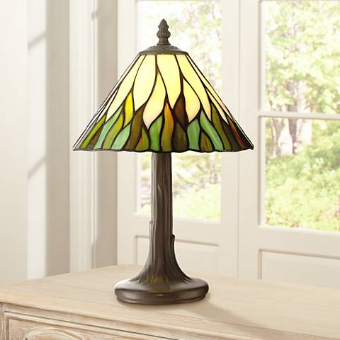 "Robert Louis Tiffany Foglia 14 1/2""H Accent Lamp"