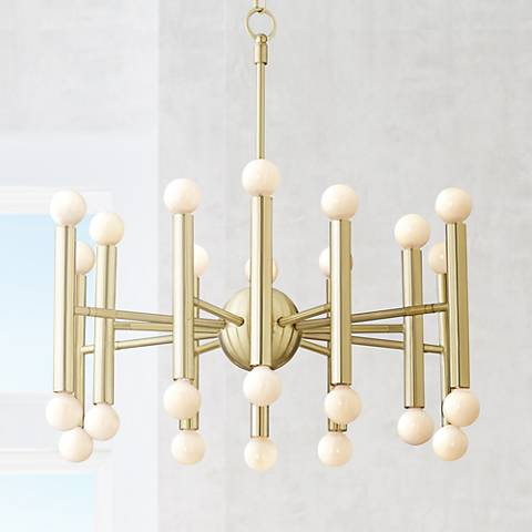 "Possini Euro Hera 26"" Wide Polished Brass Chandelier"