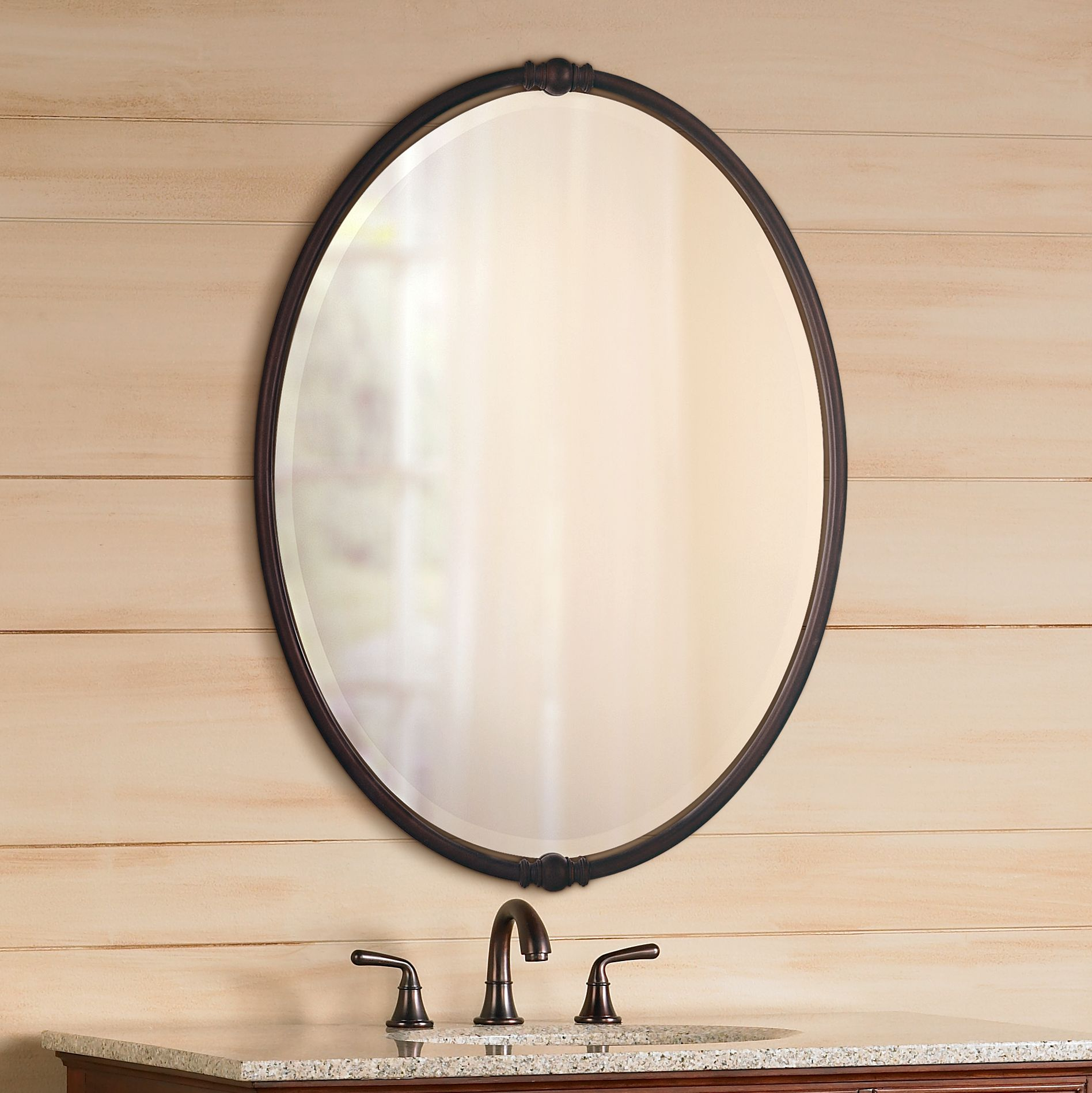 feiss boulevard collection oval wall mirror