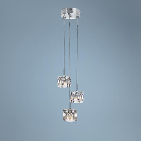 Lite Source Ice Cube 3-Light Pendant Chandelier