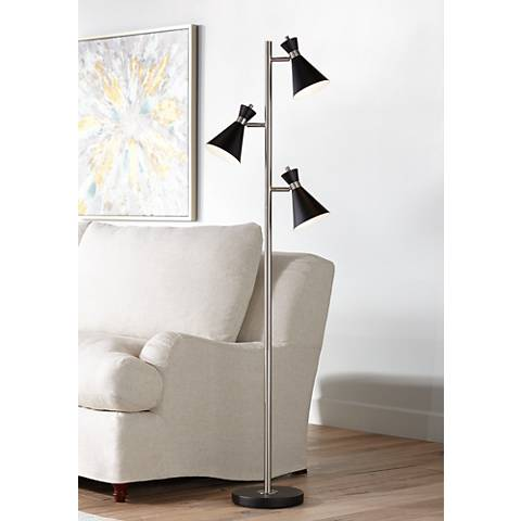 Donovan led 3 light tree floor lamp 15a09 lamps plus for Draper 3 light tree floor lamp