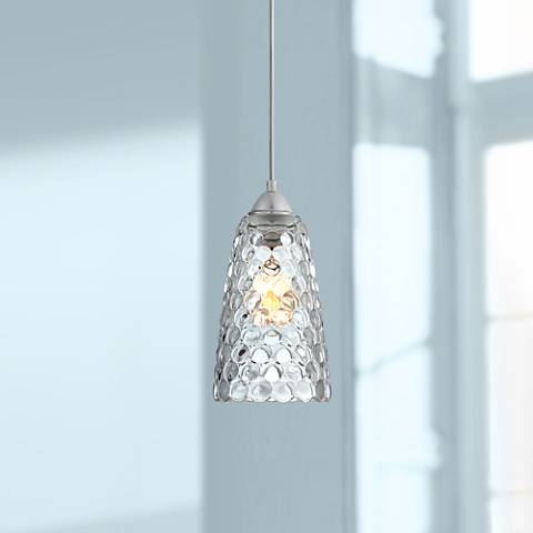 "Possini Euro Minerva 6"" Wide Chrome and Crystal Mini Pendant"