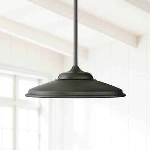 "Possini Euro Brevard 19"" Wide Black LED Pendant Light"