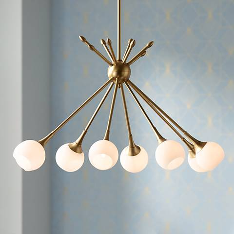"Pontil 36 1/2"" Wide Honey Gold Island Chandelier"