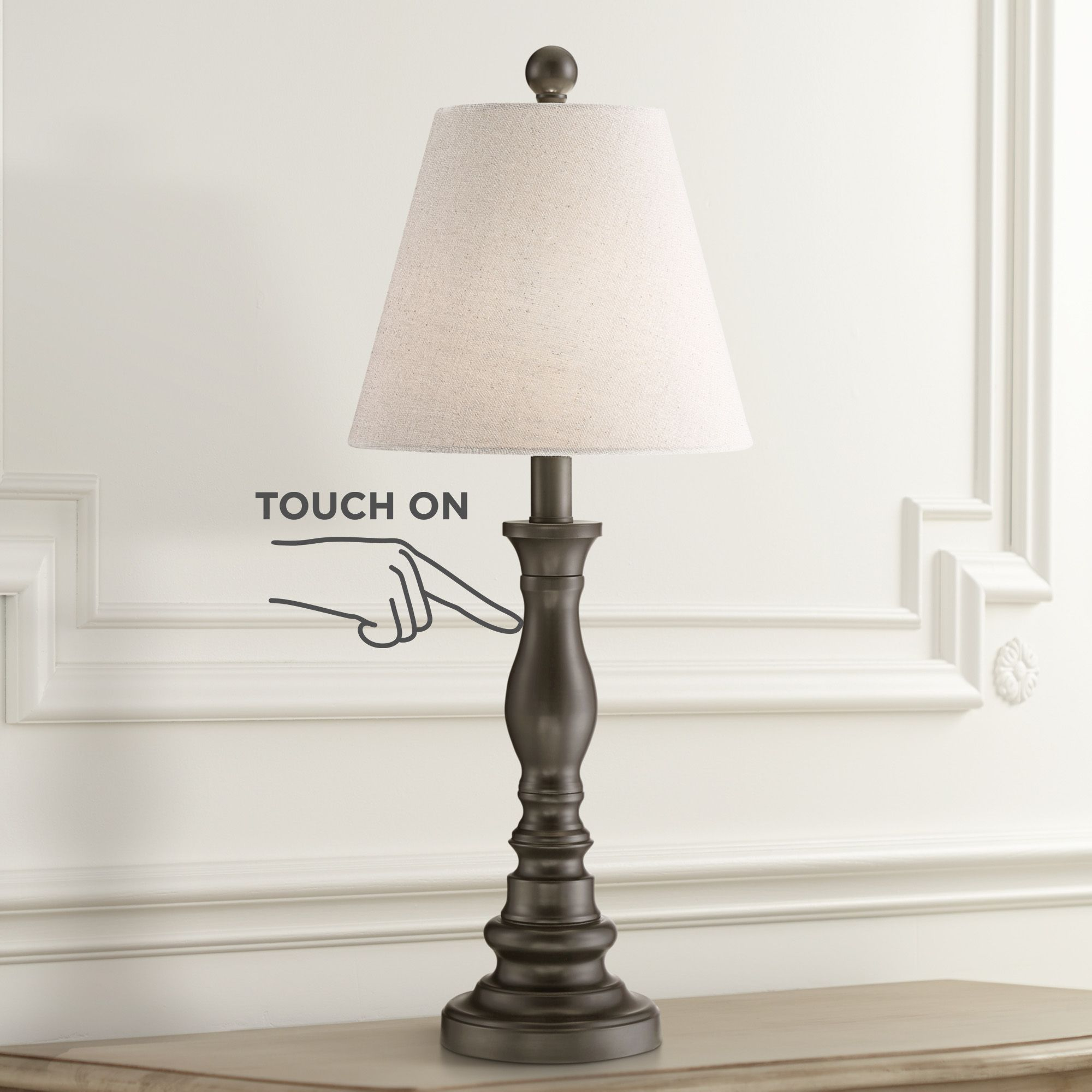 Archmond Bronze Traditional Touch On Off Accent Table Lamp