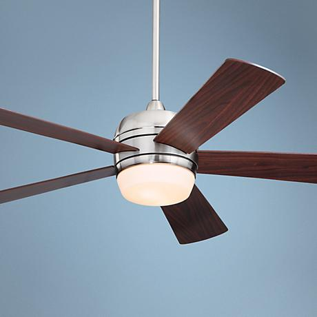 "52"" Emerson Atomical Brushed Steel Ceiling Fan"