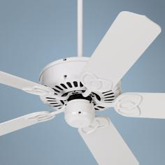 "52"" Casa Vieja Lexington White Ceiling Fan"