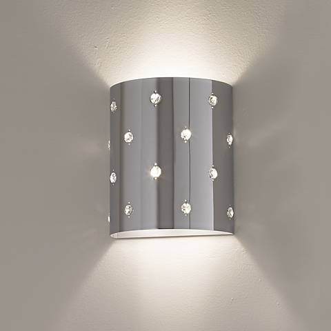 "Bling Bling Collection 8 1/2"" High ADA Compliant Wall Sconce"
